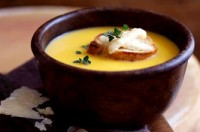 Parmesan and butternut squash soup