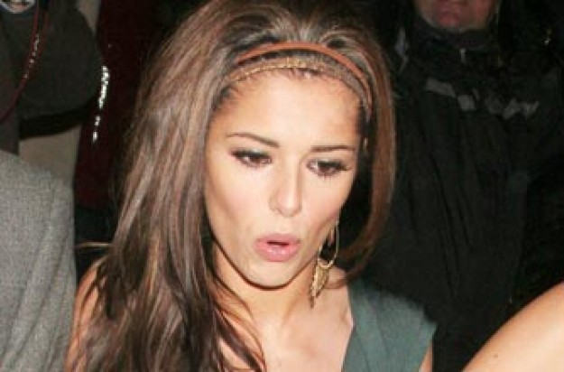 Cheryl Cole looking shocked