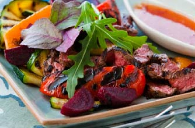 Beef and beetroot salad