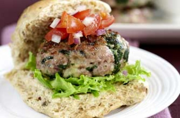 Turkey and spinach burger