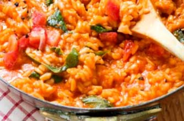Loyd Grossman's tomato and herb risotto