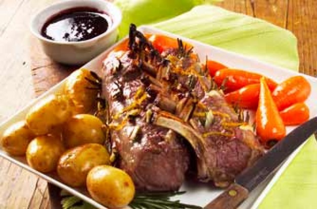 Woman's Weekly's redcurrant glazed rack of lamb