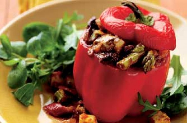 Stuffed jalfrezi peppers