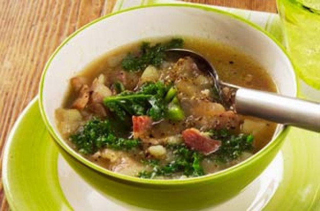 Woman's weekly's Kale and Bacon Broth