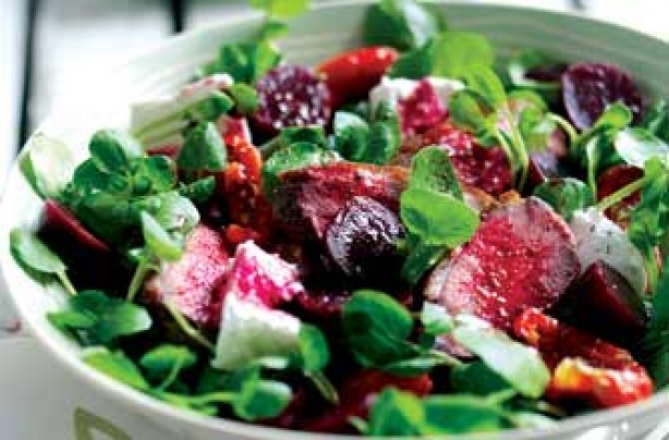 Duck, beetroot and watercress salad recipe
