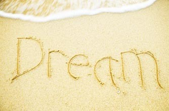 Dream written in the sand
