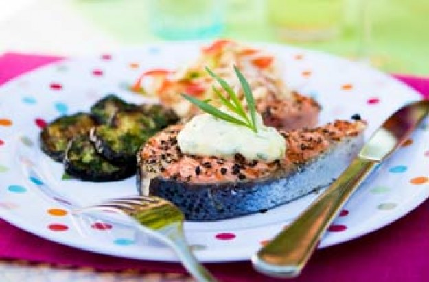 Woman's Weekly peppered salmon steak