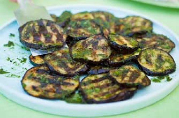 Woman's Weekly grilled aubergine salad