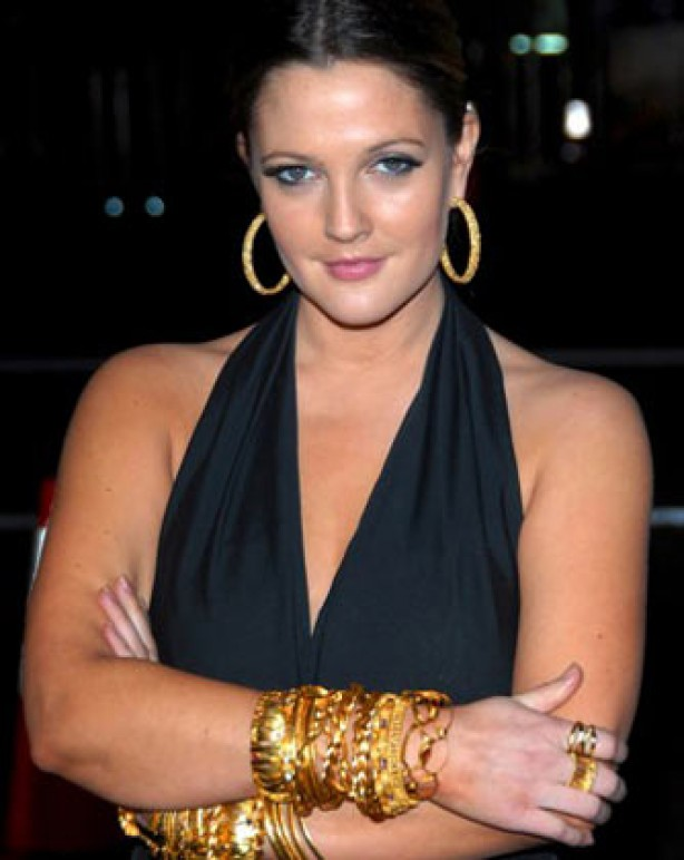 Fake tan - Drew Barrymore