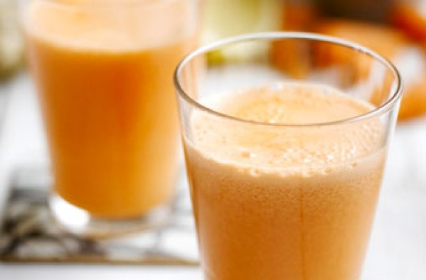 Grapefruit, ginger and carrot juice