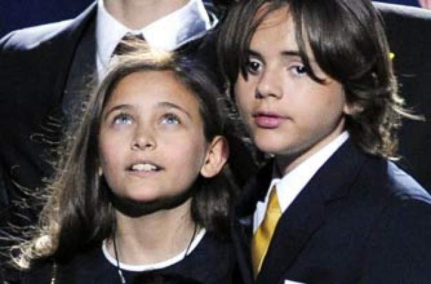 Paris and Prince Michael Jackson I at Michael Jackson's memorial service July 2009