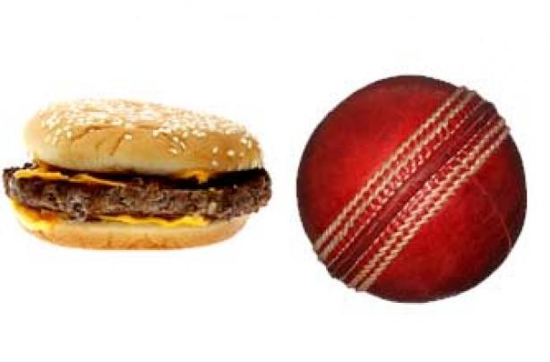 Portion sizes, diet - hamburger
