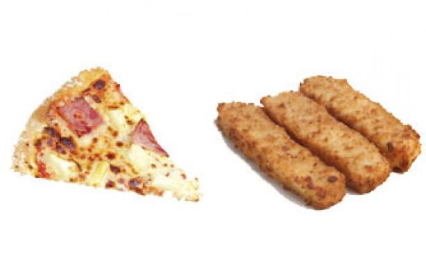 Portion sizes, diet - pizza
