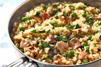 Woman's Weekly chicken and bacon risotto