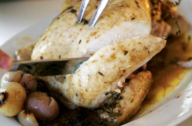 Phil Vickery's pot roast chicken