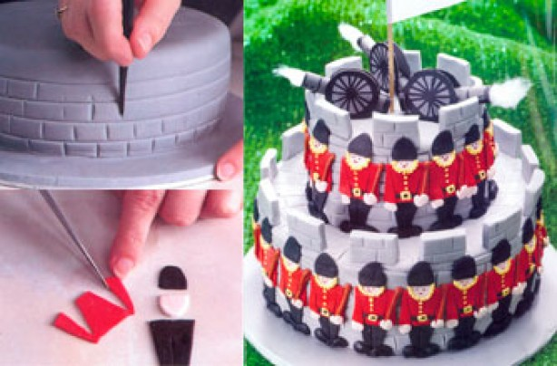 Soldier cake stages