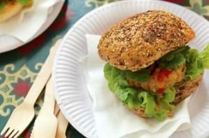 Bill Granger's lime and lemongrass chicken burger