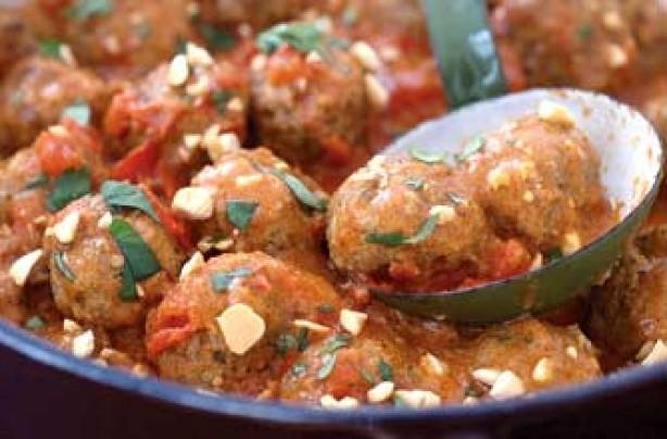 Bill Granger's pork meatballs in curry sauce