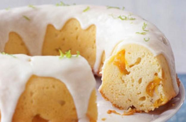 Bill Granger's lime and mango cake