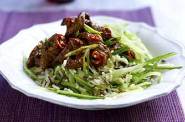 Spiced Thai beef salad with wild rice