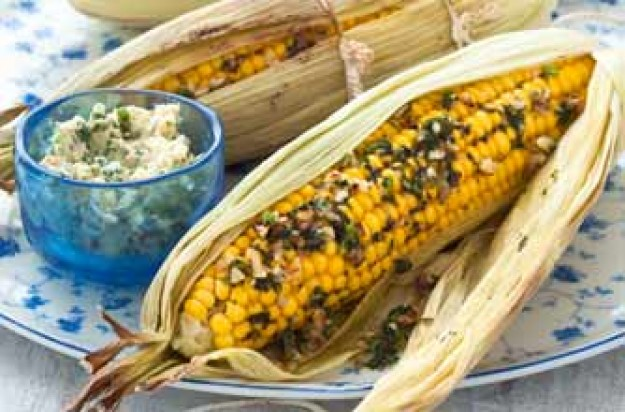 Woman's Weekly's sweetcorn with herb butter