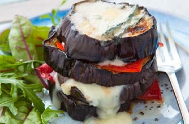 Woman's Weekly's aubergine stacks
