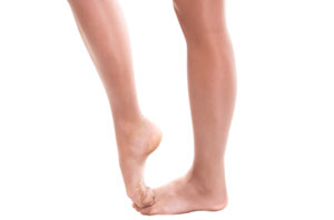 Toned calves