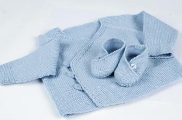Easy knitting patterns for babies free