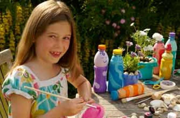 Garden crafts for kids: super skittles