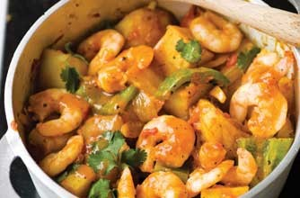 Levi Roots' hot hot prawn curry