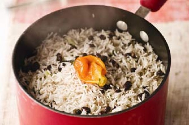 Levi Roots' rice and peas