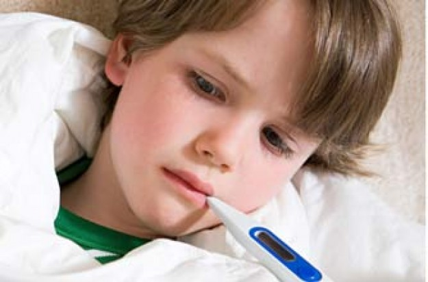 Boy with swine flu
