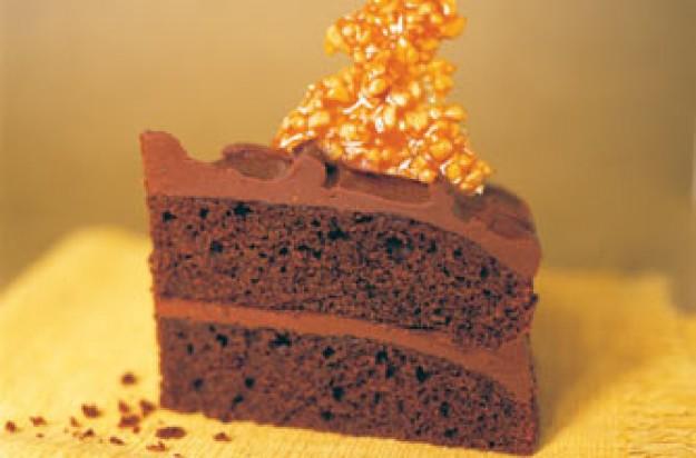 Sticky peanut butter cake