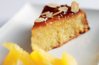 Michel Roux Jr.'s orange and almond cake with whisky-soasked segments