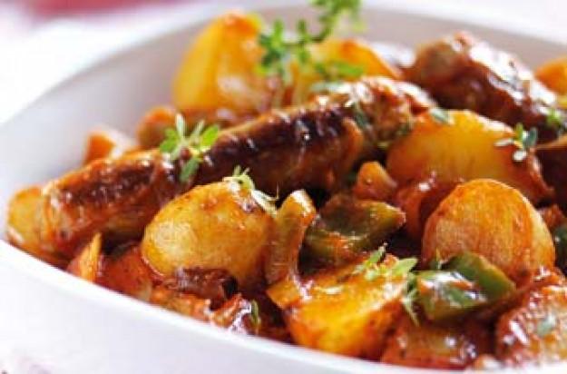 Easy sausage and potato casserole