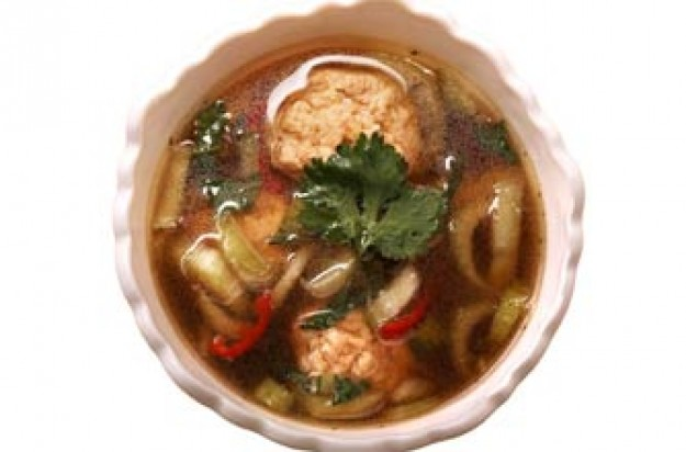 Thai turkey hot and sour soup