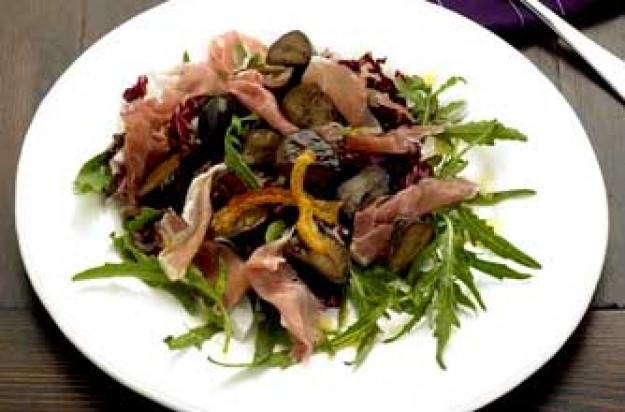 Warm chestnut salad