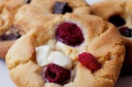 Carnation raspberry and white chocolate cookies