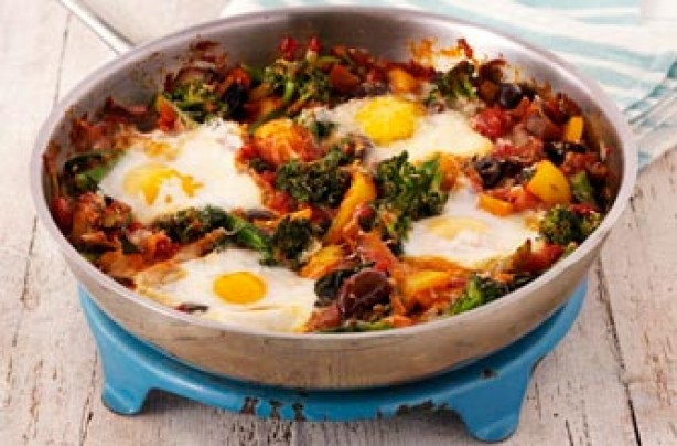 Gino D'Acampo's eggs with broccoli