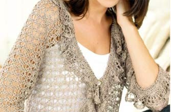 Las Speckled Vest - Crochet Clothes - Crochet Cardigan