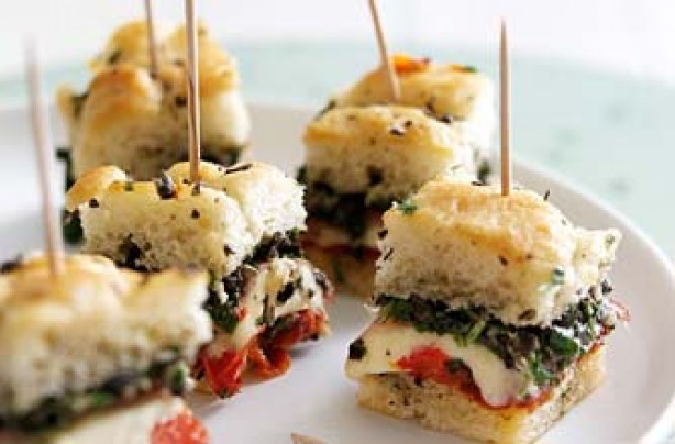 50 quick and easy canapes cheese and pickle straws for Italian canape ideas