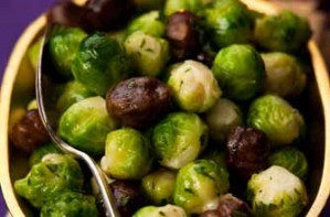 Chestuts with brussel sprouts