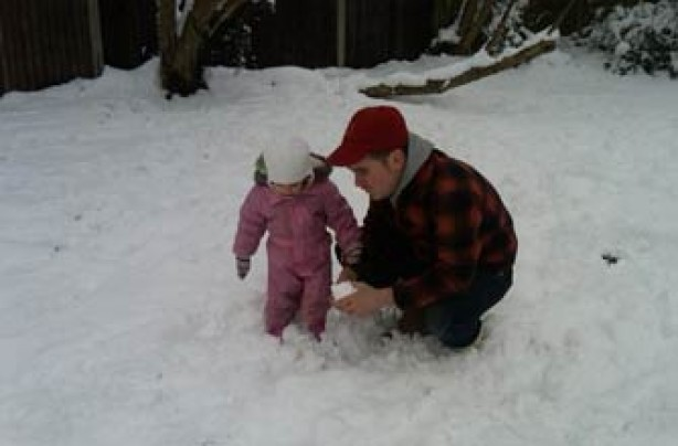 Doug and Kitty play in the snow!
