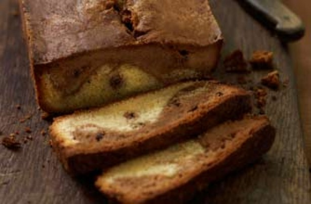 Chocolate and vanilla marble cake recipe