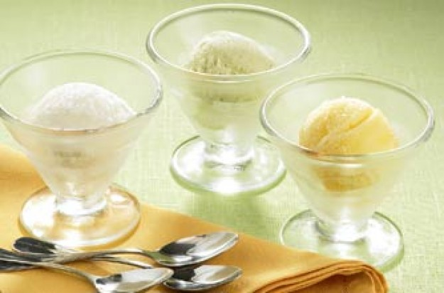 trio of sorbets