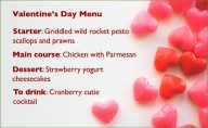 Valentine's Day menu - not too tricky