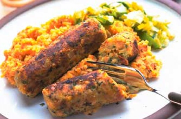 Veg and nut sausage