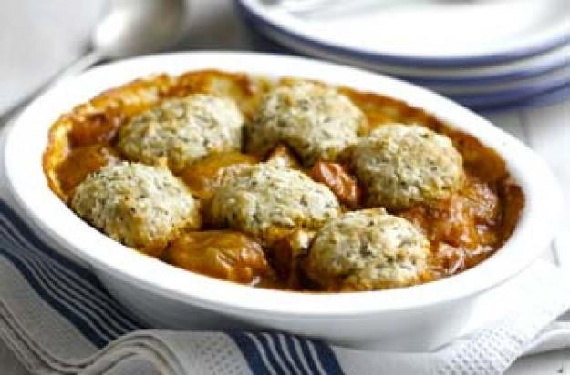 Squash, shallot and butterbean casserole
