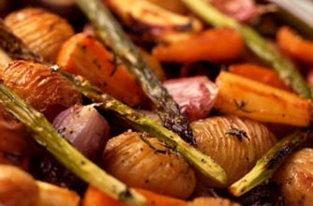Roasted herby vegetables