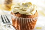 Banana bran muffins with honey frosting